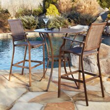 <strong>Panama Jack Outdoor</strong> Island Cove 3 Piece Pub Dining Set
