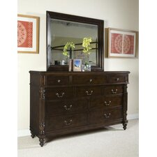 <strong>Panama Jack Outdoor</strong> Old Havana 10 Drawer Dresser with Mirror