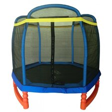 7' Super Trampoline Combo with Enclosure