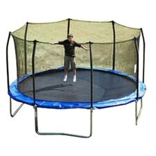 15' Enclosure Trampoline Net Using 8 Straight Curved Poles