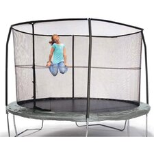 12' Enclosure Trampoline Net Using 4 Straight-Curved Poles