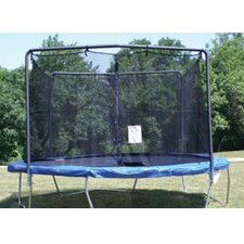 14' Enclosure Trampoline Net Using 2 Arches