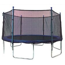 Trampoline Net Using 6 Straight Poles