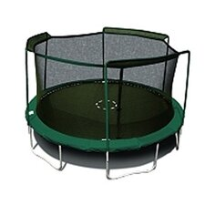 15' Enclosure Trampoline Net Using 3 Arches