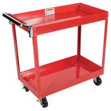 <strong>Power Station</strong> 2 Shelf Service Cart with Side Handle