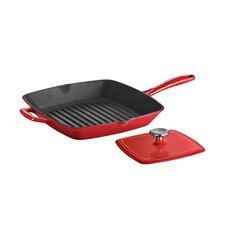 Tramontina Gourmet Enameled Cast Iron 11 in Grill Pan with Press Gradated