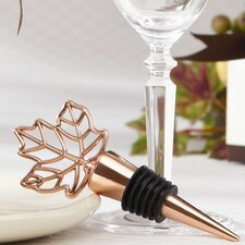 Fall ''Lustrous Leaf'' Bottle Stopper