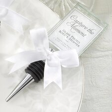 Fairy Tale ''Capture the Moment'' Glass Photo Holder Bottle Stopper