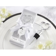 ''Simply Elegant'' Heart Bottle Stopper