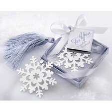 ''Snowflake'' Bookmark with Elegant Ice-Blue Tassel