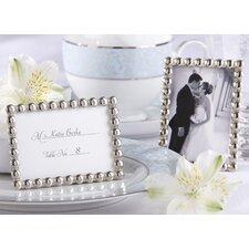 ''Silver Pearls'' Mini Photo Frame