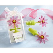 ''Blooming'' Flower Bottle Stopper in Whimsical Window Gift Box