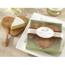 "<strong>Kate Aspen</strong> ""Tastefully Yours"" Heart-Shaped Bamboo Cheese Board"