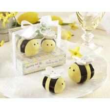 """Mommy and Me...Sweet As Can Bee"" Ceramic Honeybee Salt and Pepper Shaker"