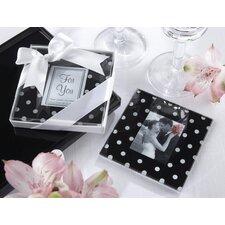 """Mod Dots"" Polka Dot Photo Coaster (Set of 72)"
