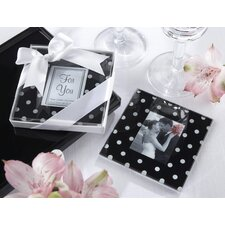 """Mod Dots"" Polka Dot Photo Coaster"