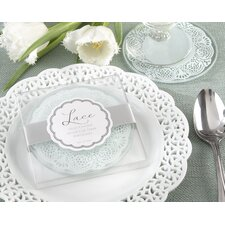 """Lace"" Exquisite Frosted-Glass Coaster"