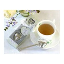 ''Tea Time'' Heart Tea Infuser Favor in Teatime Gift Box