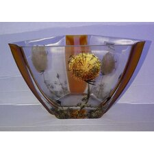 Hand Painted Glass Danderloin Series Vase