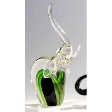 <strong>Womar Glass</strong> Glass Elephant Figurine