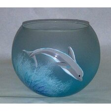 <strong>Womar Glass</strong> Dolphin Bowl