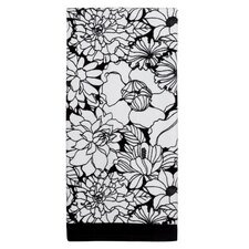 Black and White Print Bath Towel