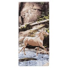 Horse Canyon Print Bath Towel