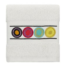 Dot Swirl Embroidered Washcloth