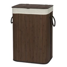 Folding Bamboo Hamper