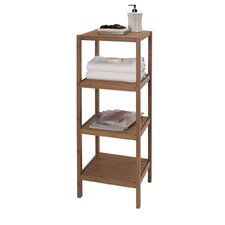 "14"" x 41.5"" 4 Shelf Bamboo Tower"