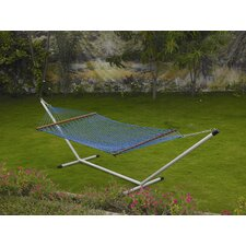 Polyester Rope Hammock with Stand