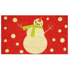 Holiday Snowman Doormat