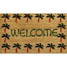 <strong>Home & More</strong> Palm Tree Border Welcome Doormat