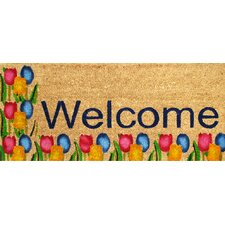 Tulips Welcome Doormat