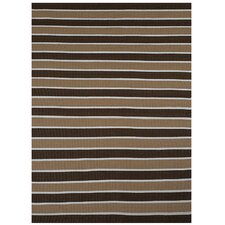 Brown Stripe Area Rug