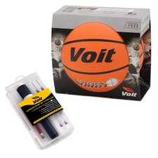 <strong>Voit</strong> Catch and Shoot Rubber Basketball with Ultimate Inflating Kit