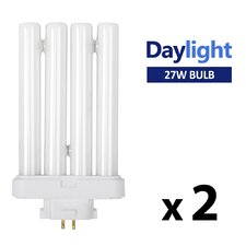 27W 6500K Energy Saving Daylight Bulbs (Set of 2)