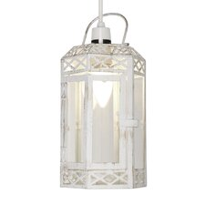 Ornate Metal and Glass Ceiling Light Shade