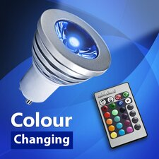 3W LED Colour Changing Light Bulb