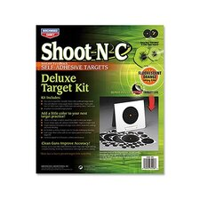Shoot-N-C Deluxe Bullseye Target Kit (4 Per Pack)