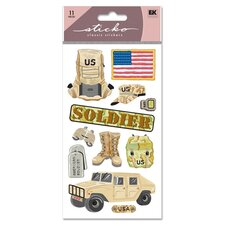 Classic US Soldier Sticker