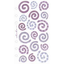 Flat Vellum and Glitter Swirl Sticker