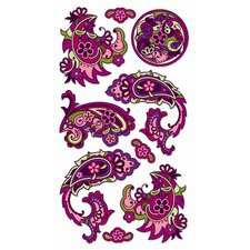 Classic Foil Dragon Paisley Sticker