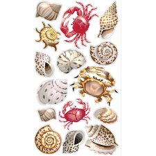 Classic Shells and Crabs Sticker