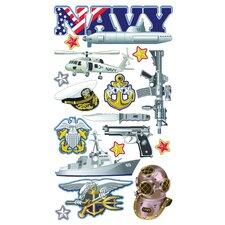 Foil Navy Sticker