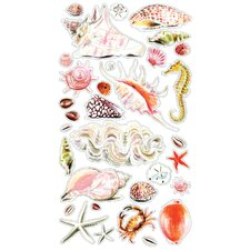 Classic Sea Shells and Sand Sticker