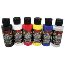 <strong>Createx Colors</strong> Wicked Colors Primary Airbrush Paint (Set of 6)