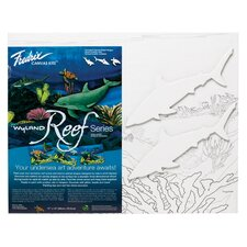 <strong>Fredrix</strong> Wyland Reef Series Shark Canvas Kit