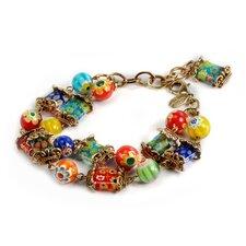 Millefiori Candy Glass Squares Bracelet