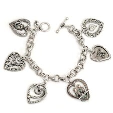 Vintage Hearts Charm Bracelet
